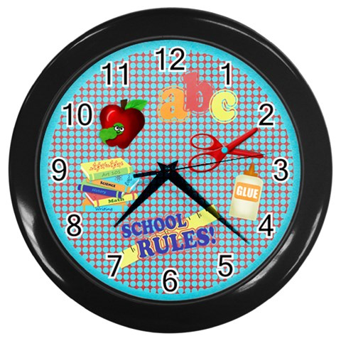 It By Emily   Wall Clock (black)   6kmln7md2l6q   Www Artscow Com Front