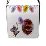 Little flower Flap Closure Messenger Bag (large) - Flap Closure Messenger Bag (L)
