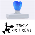 Trick or treat Helloween stamp XL - Rubber Address Stamp (XL)