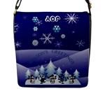 Season s Greetings Flap Closure Messenger Bag - Flap Closure Messenger Bag (L)