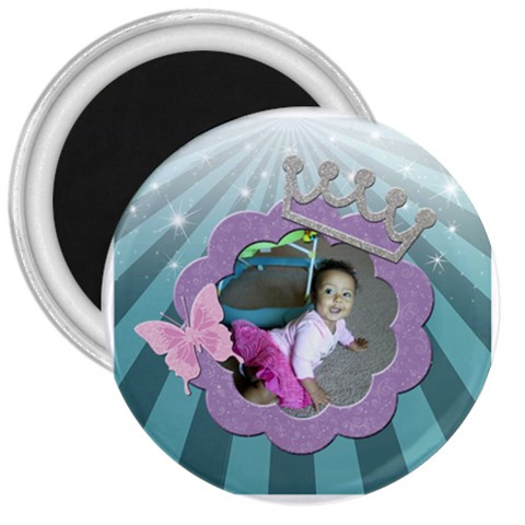 Princess Magnet 3 In By Angeye   3  Magnet   Xd5pytrkwsbi   Www Artscow Com Front
