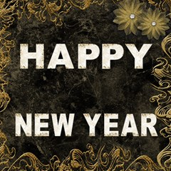 Marble Gold Happy New Year 3d Card By Deborah   Happy New Year 3d Greeting Card (8x4)   9vbea84qxdwx   Www Artscow Com Inside