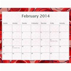 Erich Calendar By Sheri Mueller   Wall Calendar 11  X 8 5  (12 Months)   M7sej5yzo68n   Www Artscow Com Feb 2014