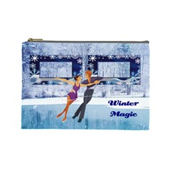 Winter Magic Large Cosmetic Bag By Joy Johns   Cosmetic Bag (large)   F2p4w7ao06et   Www Artscow Com Front