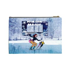 Winter Magic Large Cosmetic Bag By Joy Johns   Cosmetic Bag (large)   F2p4w7ao06et   Www Artscow Com Back