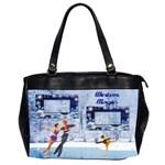 Winter Magic office bag, 2 sides - Oversize Office Handbag (2 Sides)