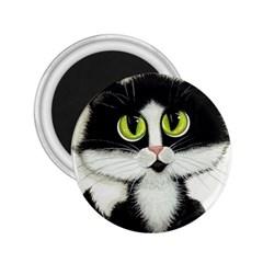 Tuxedo Cat By Bihrle 2 25  Button Magnet by AmyLynBihrle