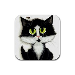 Tuxedo Cat By Bihrle Drink Coasters 4 Pack (square) by AmyLynBihrle