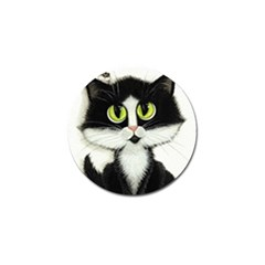 Tuxedo Cat By Bihrle Golf Ball Marker 10 Pack by AmyLynBihrle