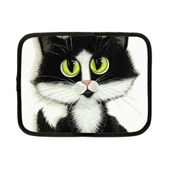 Tuxedo Cat By Bihrle Netbook Case (small) by AmyLynBihrle