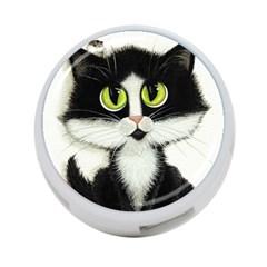 Tuxedo Cat By Bihrle 4 Port Usb Hub (two Sides) by AmyLynBihrle