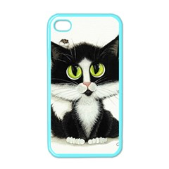Tuxedo Cat By Bihrle Apple Iphone 4 Case (color) by AmyLynBihrle