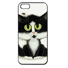 Tuxedo Cat By Bihrle Apple Iphone 5 Seamless Case (black) by AmyLynBihrle