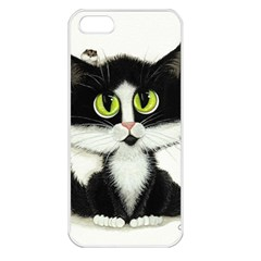 Tuxedo Cat By Bihrle Apple Iphone 5 Seamless Case (white) by AmyLynBihrle