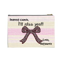 Chanies Goodbye Prez By Batsheva Beck   Cosmetic Bag (large)   S1urub5p47b5   Www Artscow Com Back