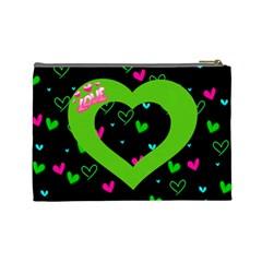 Love Large Cosmetic Bag By Joy Johns   Cosmetic Bag (large)   Cpjg1jhrrckj   Www Artscow Com Back
