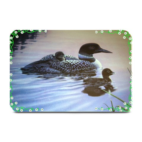 Floral Corner Plate Mat By Kim Blair   Plate Mat   I7dhecbo892w   Www Artscow Com 18 x12 Plate Mat - 1