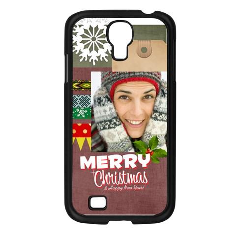 Xmas By Merry Christmas   Samsung Galaxy S4 I9500/ I9505 Case (black)   Zuruj0pd4lv0   Www Artscow Com Front