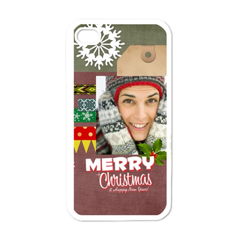 Xmas By Merry Christmas   Apple Iphone 4 Case (white)   Nqhetsm8493g   Www Artscow Com Front