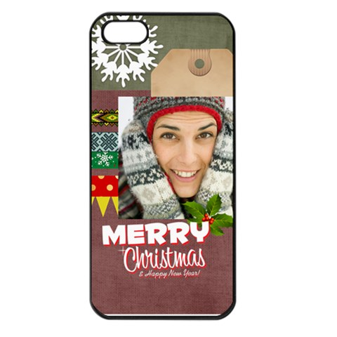 Xmas By Merry Christmas   Apple Iphone 5 Seamless Case (black)   F36inh6sey9b   Www Artscow Com Front