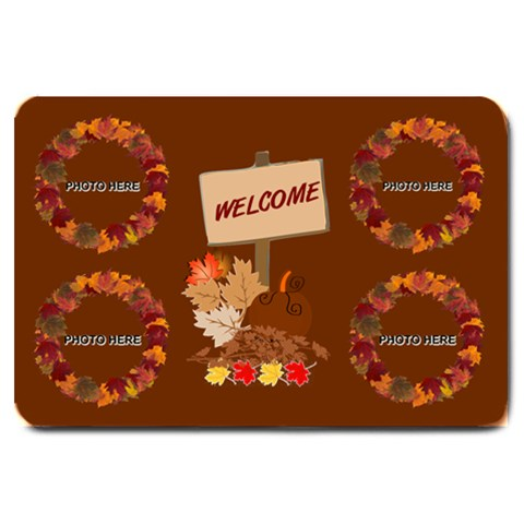Autumn Greetings Large Doormat 2 By Joy Johns   Large Doormat   U6xfsi34s7hh   Www Artscow Com 30 x20 Door Mat - 1
