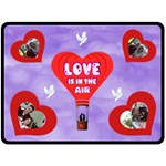 Love Is In The Air large blanket - Fleece Blanket (Large)
