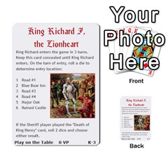 Robin Hood Cards (outlaw And King Decks) By Mark Johnson   Multi Purpose Cards (rectangle)   35mxy14yyzc4   Www Artscow Com Front 37