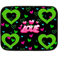 Love Min Blanket, 2 Sides By Joy Johns   Double Sided Fleece Blanket (mini)   16qpmjsxa72a   Www Artscow Com 35 x27 Blanket Back