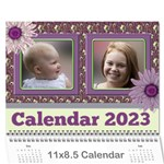 Country Floral 11x8.5 Calendar (any year) - Wall Calendar 11  x 8.5  (12-Months)
