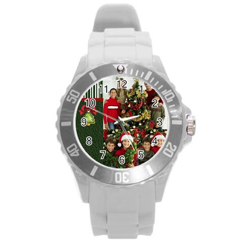 Xmas By Merry Christmas   Round Plastic Sport Watch (l)   2r8bce481m9s   Www Artscow Com Front