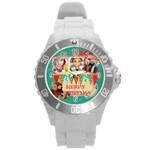 xmas - Round Plastic Sport Watch (L)