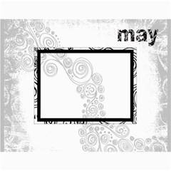 2015 Faded Glory Monochrome Calendar By Catvinnat   Wall Calendar 11  X 8 5  (12 Months)   Vyquxyqtiufb   Www Artscow Com Month