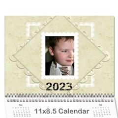 2015 Damask Wedding Calendar  By Catvinnat   Wall Calendar 11  X 8 5  (12 Months)   Zpda3t63l3vt   Www Artscow Com Cover