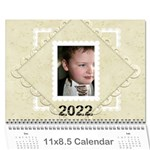 2015 Damask Wedding Calendar  - Wall Calendar 11  x 8.5  (12-Months)