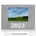 2015 Simple Silver Calendar - Wall Calendar 11  x 8.5  (12-Months)
