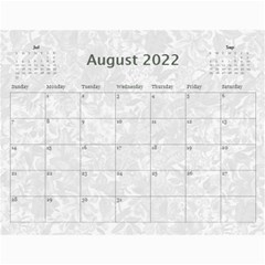 2015 Weathered Floral Calendar By Catvinnat   Wall Calendar 11  X 8 5  (12 Months)   1v3cn31fswo7   Www Artscow Com Aug 2015