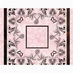 2015 Art Nouveau 100% Love Pastel Pink Calendar By Catvinnat   Wall Calendar 11  X 8 5  (12 Months)   Tjteewbvyizh   Www Artscow Com Month