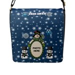 Snow Days large flap closure messenger bag - Flap Closure Messenger Bag (L)