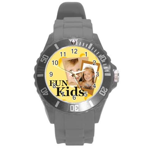 Kids By Kids   Round Plastic Sport Watch (l)   Uxgacg6ihvlj   Www Artscow Com Front