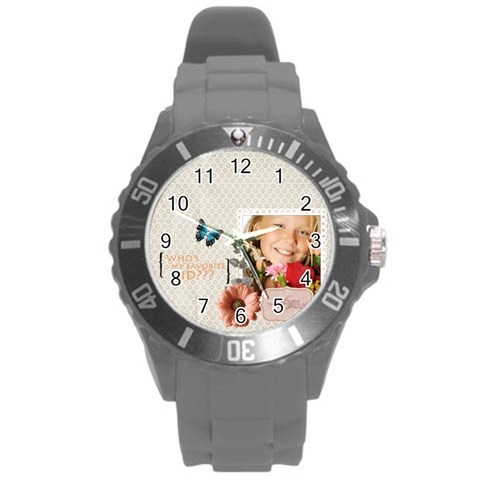 Kids By Kids   Round Plastic Sport Watch (l)   D7i8fuckew0g   Www Artscow Com Front