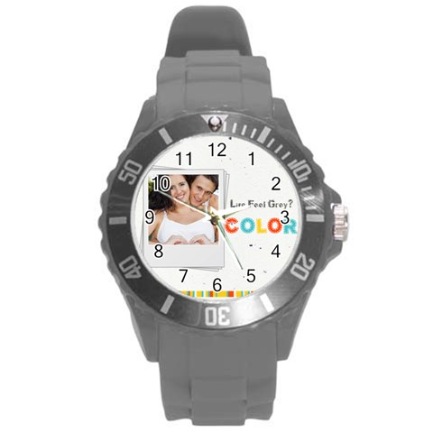 Kids By Kids   Round Plastic Sport Watch (l)   Cd6cw0wwh9ou   Www Artscow Com Front