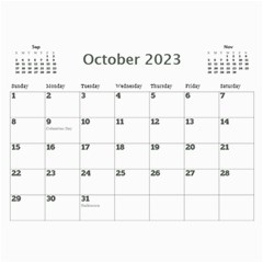 My Picture Calendar (any Year) By Deborah   Wall Calendar 11  X 8 5  (12 Months)   Ovy7scx1acd9   Www Artscow Com Oct 2017