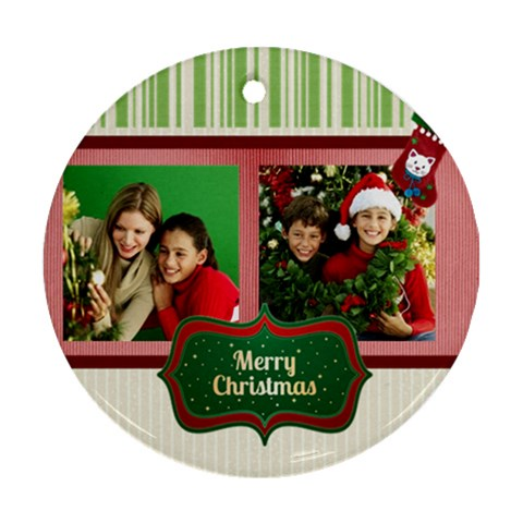 Christmas By Merry Christmas   Ornament (round)   2ylj11uirfvp   Www Artscow Com Front