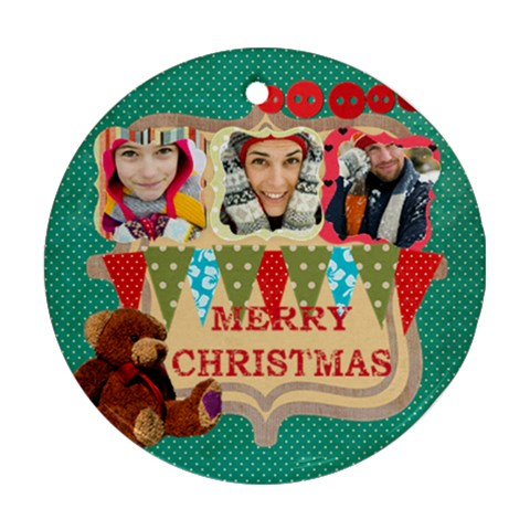 Christmas By Merry Christmas   Ornament (round)   Uoxboj9vyltr   Www Artscow Com Front