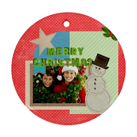 Christmas By Merry Christmas   Ornament (round)   Nbonqgshyb7m   Www Artscow Com Front
