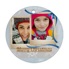 Christmas By Merry Christmas   Round Ornament (two Sides)   Jtjxmjxw2kfs   Www Artscow Com Back