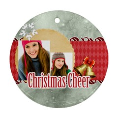Christmas By Merry Christmas   Round Ornament (two Sides)   Gh8ih14dvjbq   Www Artscow Com Front