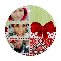 Christmas By Merry Christmas   Round Ornament (two Sides)   E0f2w06j4pmk   Www Artscow Com Front