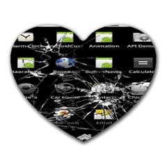 Crack Screen Mouse Pad (heart) by Contest1624092