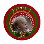 2015 Christmas Round Ornament - Ornament (Round)